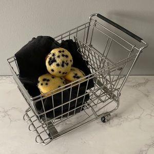 Grocery Cart Fruit Bread Basket Realistic Prop